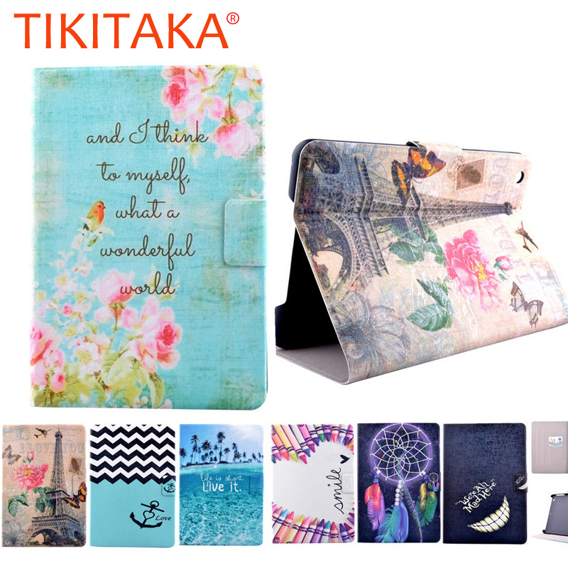 High Quality 2017 Flower Pattern Flip pu Leather Smart Stand Shell Cover Case for Apple Ipad mini 4 Tablet Case 7.9 inch Capa