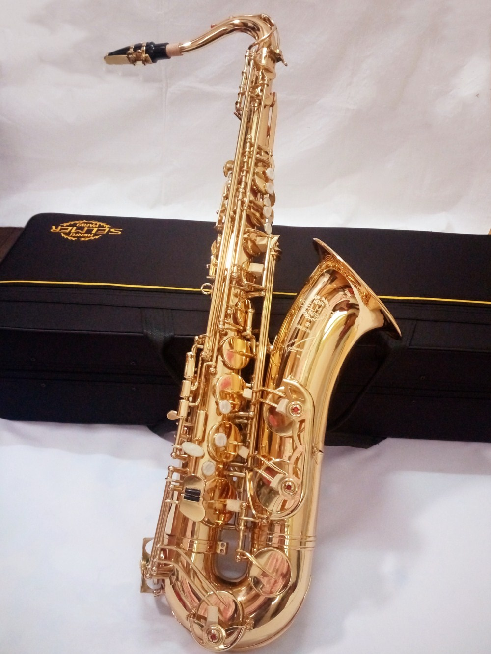 France Selmer 54 B flat Tenor saxophone high grade gold Tenor Sax music Professional brass instrument free shipping free shipping ems genuine france selmer tenor saxophone r54 professional b black sax mouthpiece with case and accessories 9