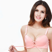 1pcs Sexy Push Up Bra For Women Brasier Mujer Seamless Bra Adjusted Wireless Bandage Lace Up