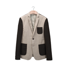 2017 spring new arrival males's leisure enterprise woolen blazer go well with males printing coat jacket blazers fits Free delivery