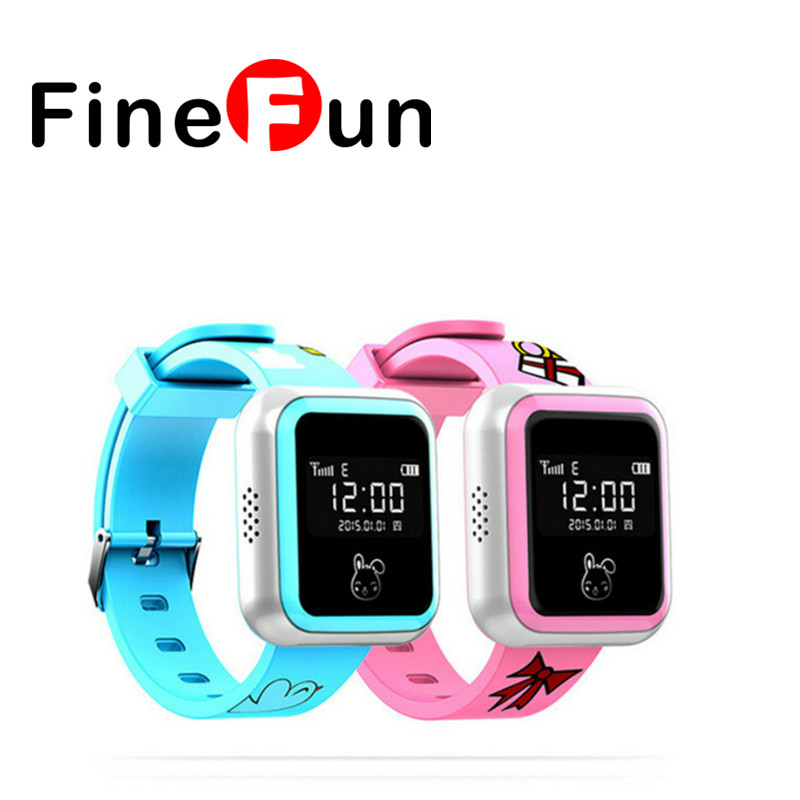 FineFun F1 Smart Watch GPS Tracker Child Anti-lost Waterproof SIM Card SOS Distress Call Smartphone wireless service call bell system popular in restaurant ce passed 433 92mhz full equipment watch pager 1 watch 7 call button