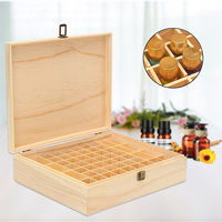 64 Slots Essential Oil Bottle Storage Box Wooden Aromatherapy Bottles Storage Organizer Jewelry Treasure Case
