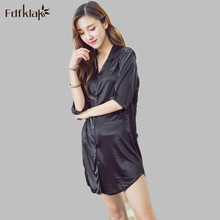 Women s Nightgown Short Summer Dresses For Women Casual Ladies Silk Nightdress Sleepwear Sleepshirt Chemise Femme