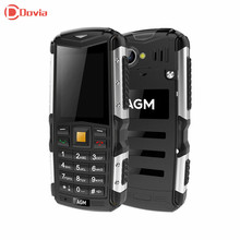 AGM M1 3G  Phone 2.0 inch IP68 Waterproof Dusfproof 2MP Camera 64MB 128MB Bluetooth 2570mAh Battery Mobile Phone