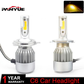 Elglux Super bright Auto H7 H4 LED Bulbs H1 H3 H8 H11 HB3 HB4 LED Headlight Kit 3000K 7600LM Dual Color Car LED Light Headlamp image