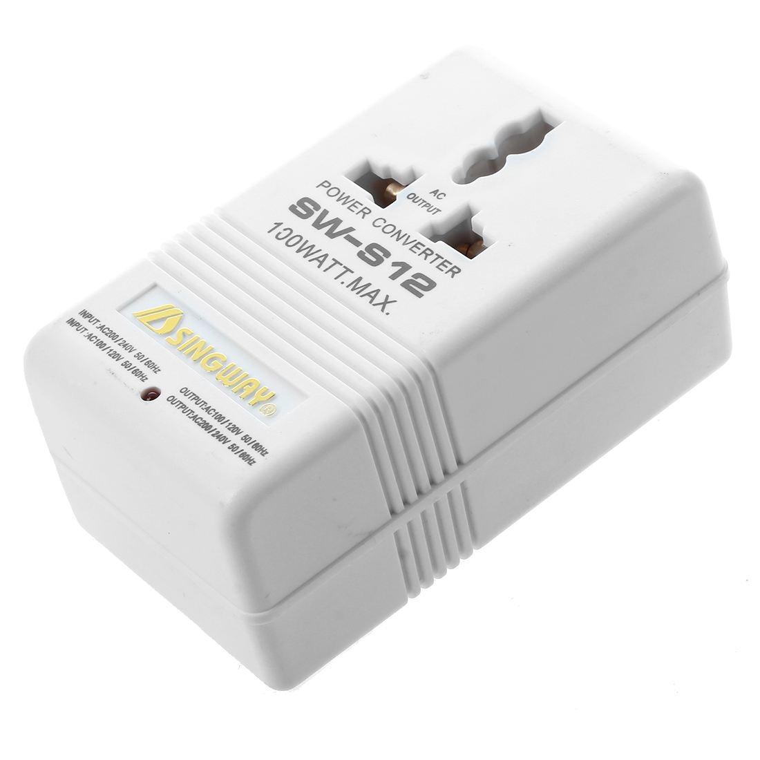 SINGWAY 100W 110V/120V to 220V/240V Step-Up&Down Voltage Converter Transformer Travel White 1pcs lot sh b17 50w 220v to 110v 110v to 220v