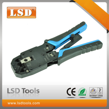 RJ45 crimping plier LT-200R modular crimping tool RJ10,RJ11,RJ12,RJ45 network tool professional cutting and stripping tool(China)