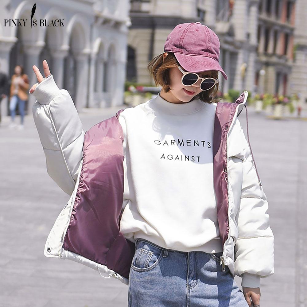 PinkyIsBlack 2019 Women Winter Jacket Hooded Warm Coat Plus Size Down Cotton Padded Jacket Female Short Parkas Winter Coat Women