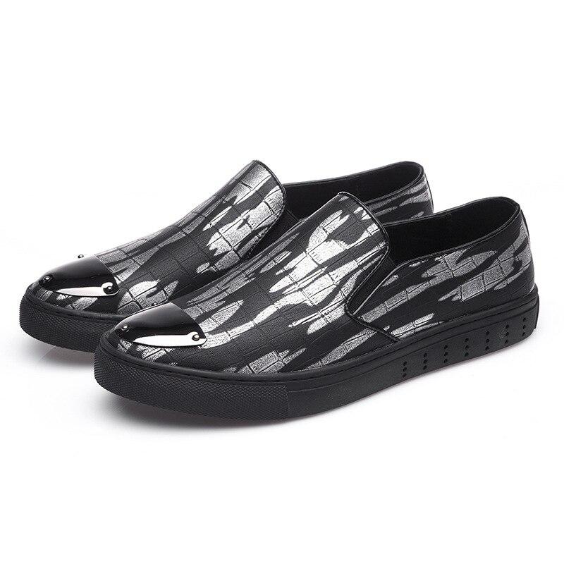 Marca Red Mpx8116266 Casual Moda wine Sapatos Primavera De Black Homens Couro Social 1SanX