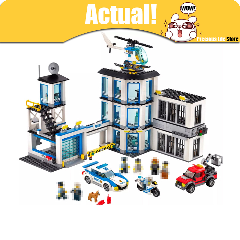 LEPIN City Police Station 02020 965PCS Building Blocks Bricks toys for children gifts brinquedos compatible legoINGly 60141 lepin 02020 city series the new police station set children educational building blocks bricks boy funny toys model gift 60141