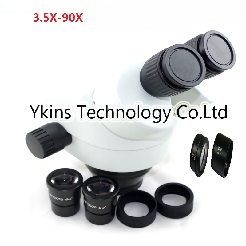 3.5X-90X Stereo zoom Magnification Binocular microscope head with SZM0.5X SZM2.0X Obective lens lucky zoom brand 3 35x 90x ultimate binocular stereo zoom microscope head sz0 5x sz2 0x microscope accessories