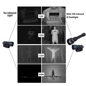 Image 5 - T50 400yards Zoomable Adjustable IR Light Hunting Torch Black 850nm IR Night Vision illuminator Zoomable Infrared Hunting Light