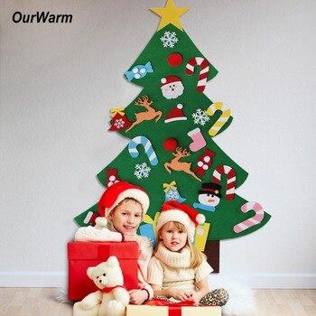 Kinder Geschenke Weihnachten 2019.Ourwarm 3mm Filz Diy Handwerk Weihnachten Baum Ornamente Neue Jahr
