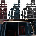 20Pcs/set With Logo Car-Styling Latex Anti Non Slip Gate Slot Pad Mat Cup/door mat For Hyundai Tucson 2015 2016  free shipping