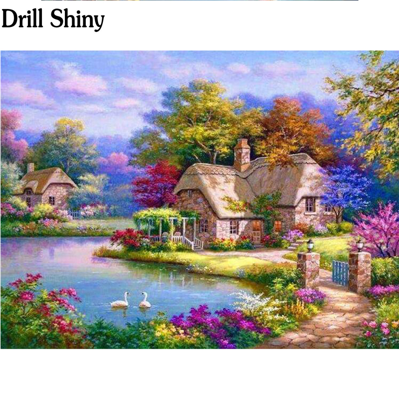 Needle Arts & Crafts Home & Garden Brave Diy Diamond Embroidery Beautiful Scenery Outside The Country Drill Full Diamond Painting Mosaic Picture Cross Stich Fc873 High Quality Materials