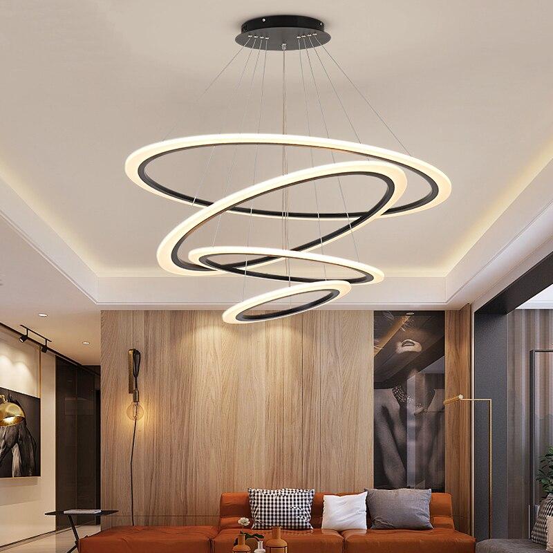 Minimalismo DIY luces colgantes Led modernas para comedor, dormitorio, cocina, lámpara colgante, luminaria de suspensión, accesorios de luz de carne