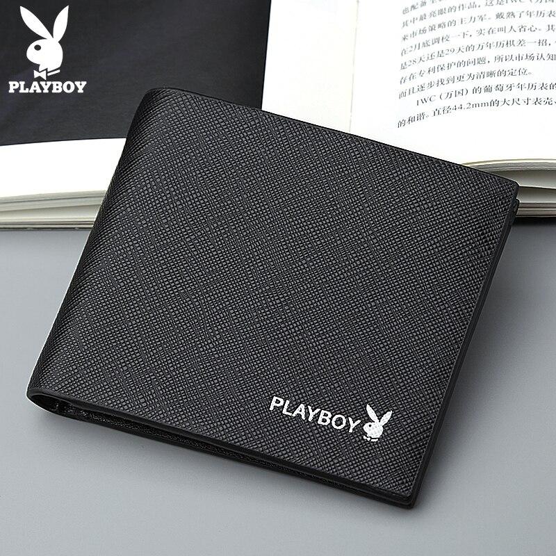 Playboy Male Short Wallets Casual Designer Famous Brand Short Leather Men Wallet Purse Carteras Walet Bag Money Vallet Pocket