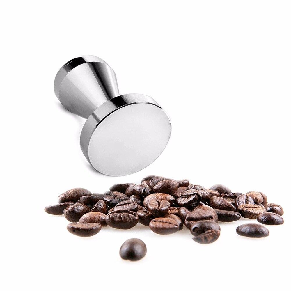 Stainless Steel Coffee Tamper Machine 51mm Diameter Flat Base Grip Handle Espresso Bean Press Kitchen Accessories