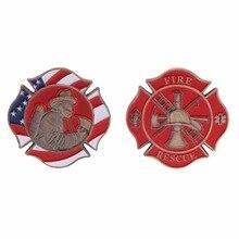 Памятная монета Американский знак пожаротушения пожарная коллекция художественные подарки сувенир Чу