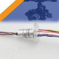 Metal Case Slip Ring for High Speed Ball RC Drone Gimbal Conductive Rings 18 Channels Aluminum Alloy Shell Capsule Slipring