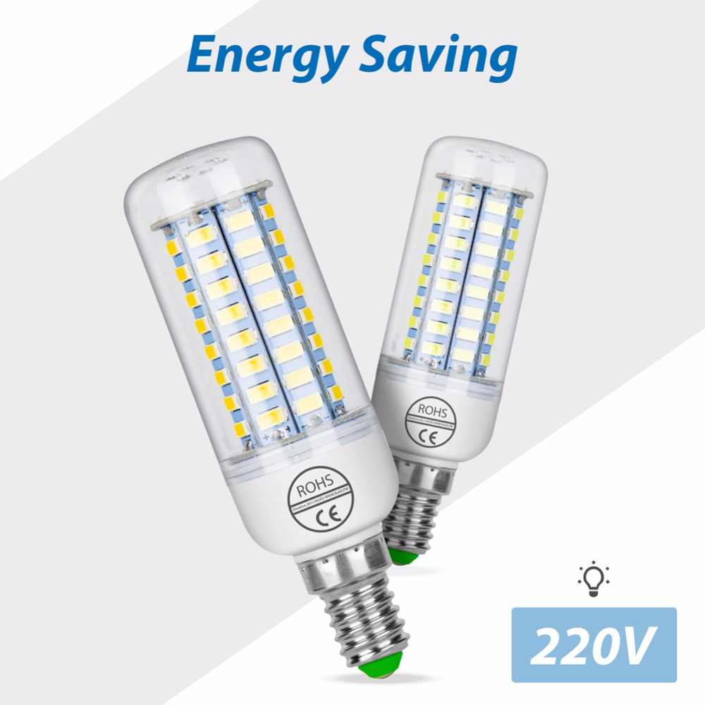 E27 LED Lamp E14 Corn Bulb 5730 B22 Lampada Led 220V 24 36 48 56 69 72leds Lights Bombillas Led Verlichting 3W 5W 7W 9W 12W 15W