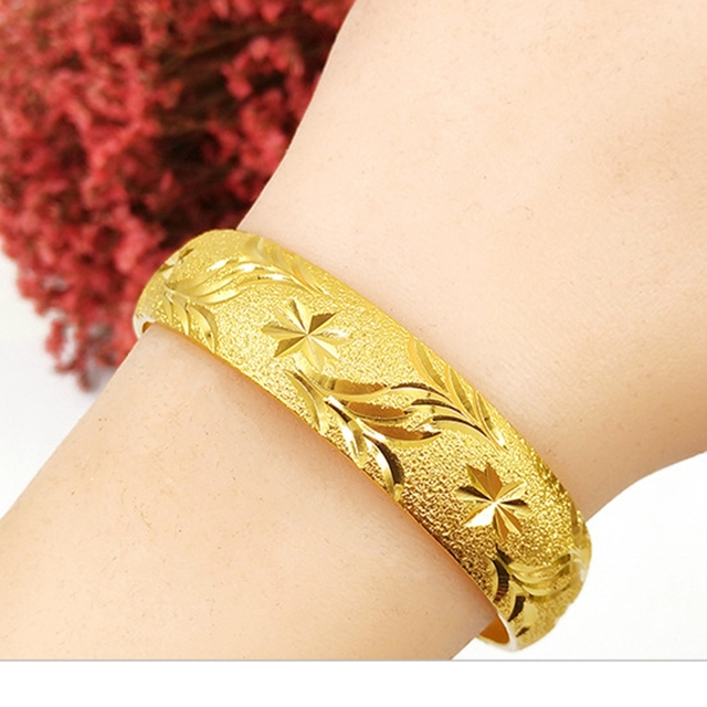 bangle bracelets com applesofgold thick hinged gold plain bangles jewelryblog