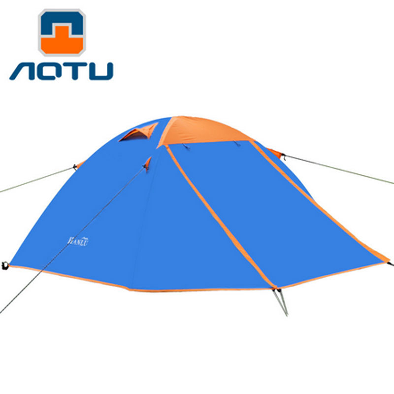 2 person double door aluminum rod tent Double Layer Outdoor Camping Hike Travel Play Tent Aluminum Pole good quality flytop double layer 2 person 4 season aluminum rod outdoor camping tent topwind 2 plus with snow skirt