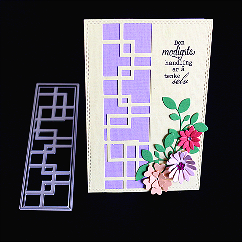 AZSG Rectangle Maze Style Cutting Die for DIY Scrapbooking Decoretive Embossing Stencial DIY Decoative Cards die cutter in Cutting Dies from Home Garden
