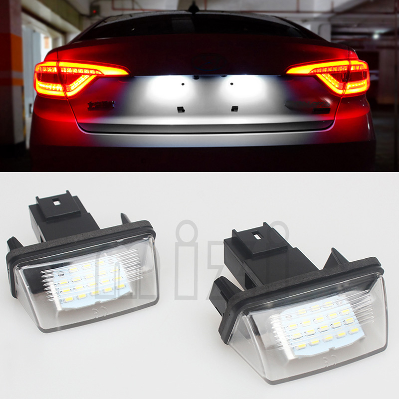 2Pcs LED License Number Plate Light For Peugeot 206 207 306 307 308 5008 406 407 For Citroen Picasso C3 C4 C5 C6 SAXO/XSARA недорого