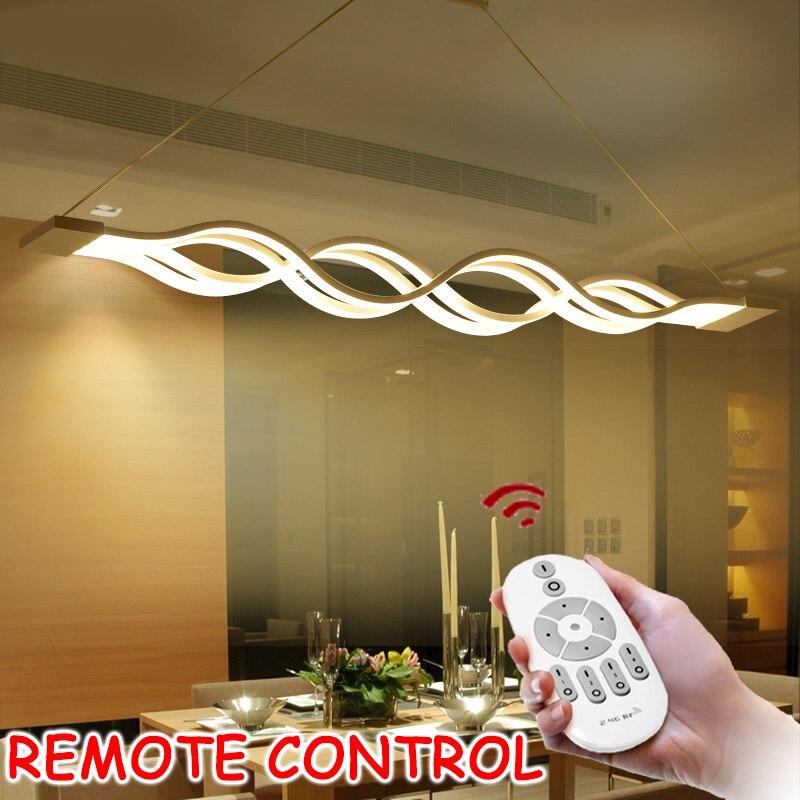L100CM 120 cm 60 cm New Creative moderne LED pendentif lumières Ondes suspendus pendentif lampe pour salle à manger salon cuisine AC85-265V