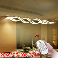 L100CM 120cm 60cm New Creative Modern LED Pendant Lights Wave Hanging Pendant Lamp For Dining Room