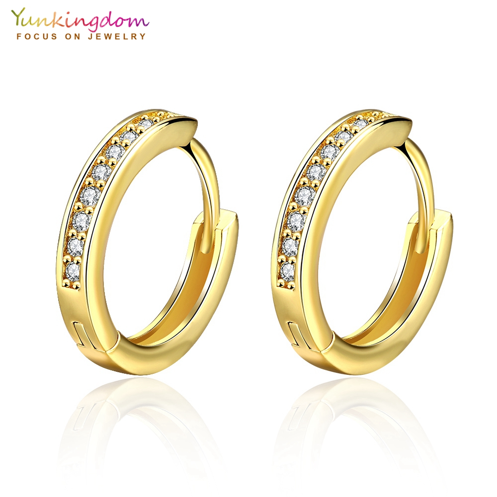 Yunkingdom Rose Gold/Gold Color Hoop Earrings for Women Small Circle Earring 2017 New