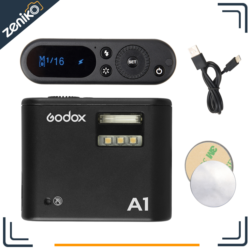 Presale Godox A1 Flash for Smartphone with 2.4G Wireless System TTL Bluetooth Trigger with Battery for ios iPhone 7 6S Plus цена