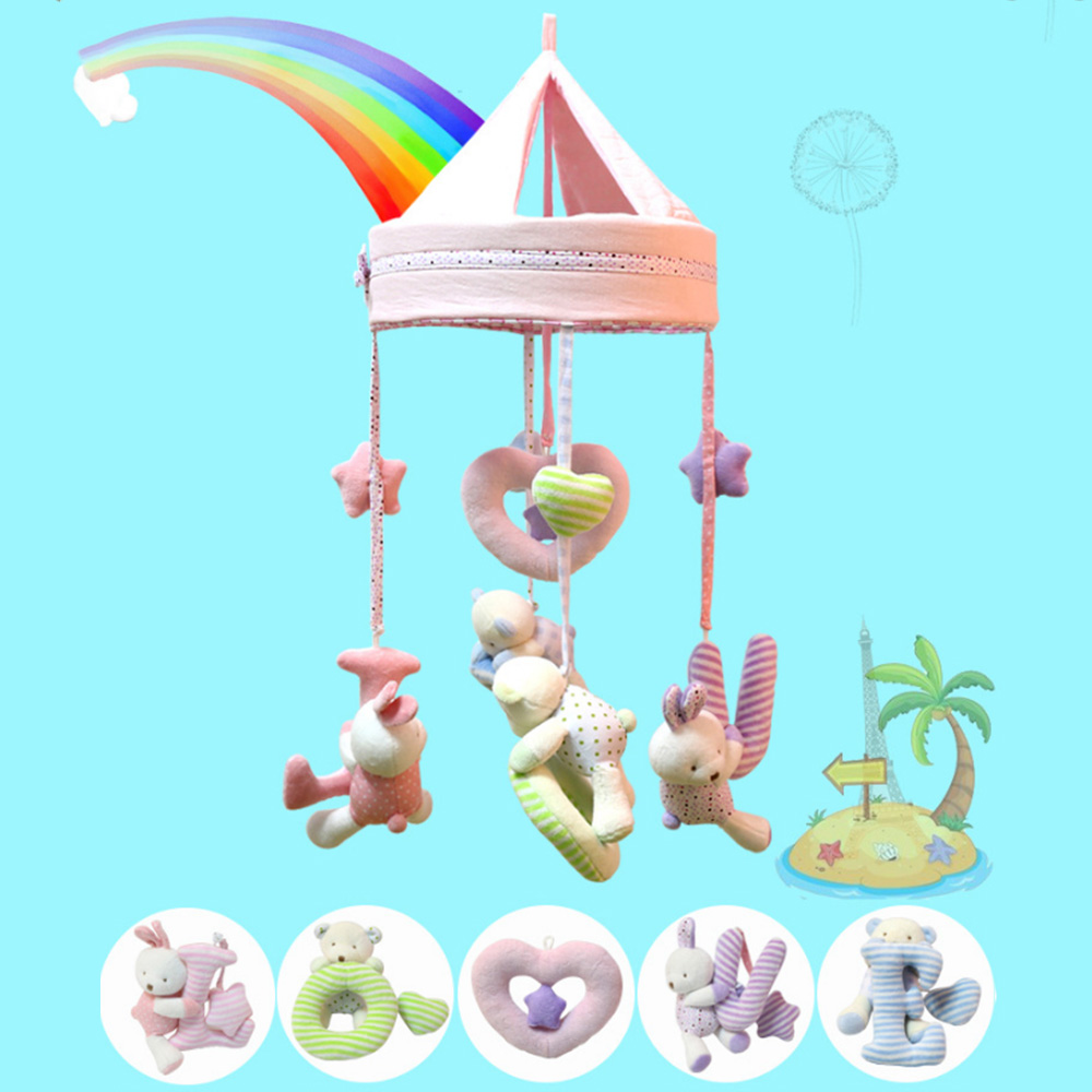 Baby Crib Stroller Toy Baby Music Turn Smart Rotating Toys Plush Doll Infant Children Newborn Gift with songs Musical Box