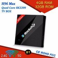 Qixi RK3399 TV BOX H96 Max Display Screen intelligent set TV BOX 4GB 32GB large menory 2.4G/5G WIFI 4K HD Support OEM