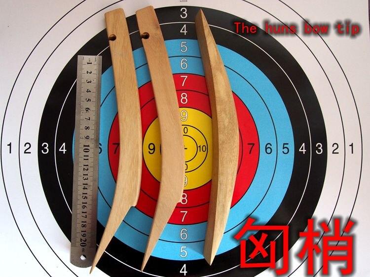 El arco de arco tradicional ligeramente recurvo que hace la cabeza de la langosta ligeramente arco Hun