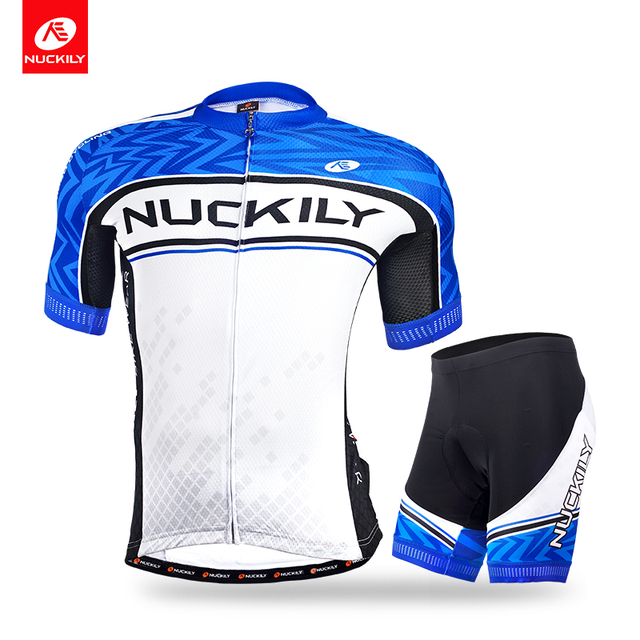Nuckily summer short sleeve jersey with short new style outdoor cycling  suit for men MA017MB017 1641d435f