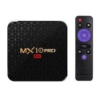 Promoção -- mx10 pro smart tv box android 9.0 allwinner h6 uhd 4k media player 6k imagem decodificação 4gb/64gb 2.4g wifi 100m lan