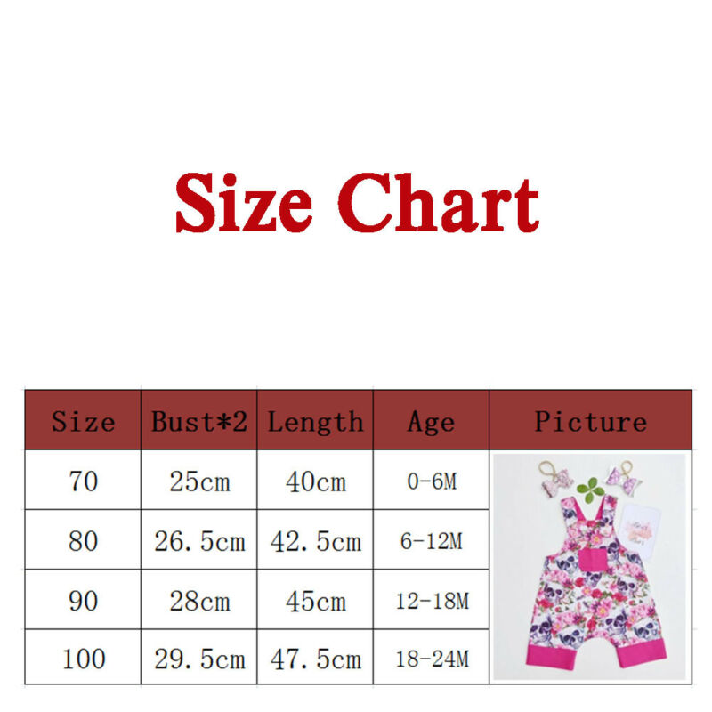 Cute Summer Newborn Baby Girls Floral & Skull Romper Sleeveless Button Jumpsuit Sunsuit Outfits(China)