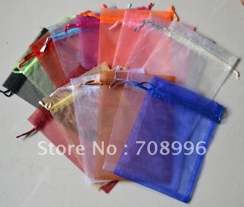 Free Shipping Wholesale Jewelry Bags Organza Pouch Wedding Favor Candy Bag 13*18CM Mix Color