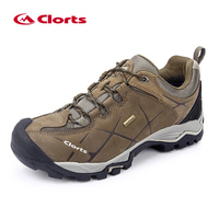New Clorts Men Hiking Shoes Nubuck Climbing Shoes Waterproof Outdoor Trekking Shoes Genuine Leather Mountain Shoes