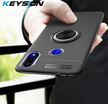 KEYSION Phone Case for Samsung Galaxy A70 A50 A30 A40 A20 A10 Metal Magnetic Ring Holder Soft Silicone TPU Cover A7 2018 M20