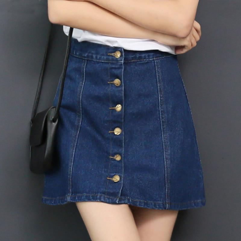 2016 femmes denim une ligne jupe jeans bouton fermeture jeans jupe femelle dans jupes de femmes. Black Bedroom Furniture Sets. Home Design Ideas