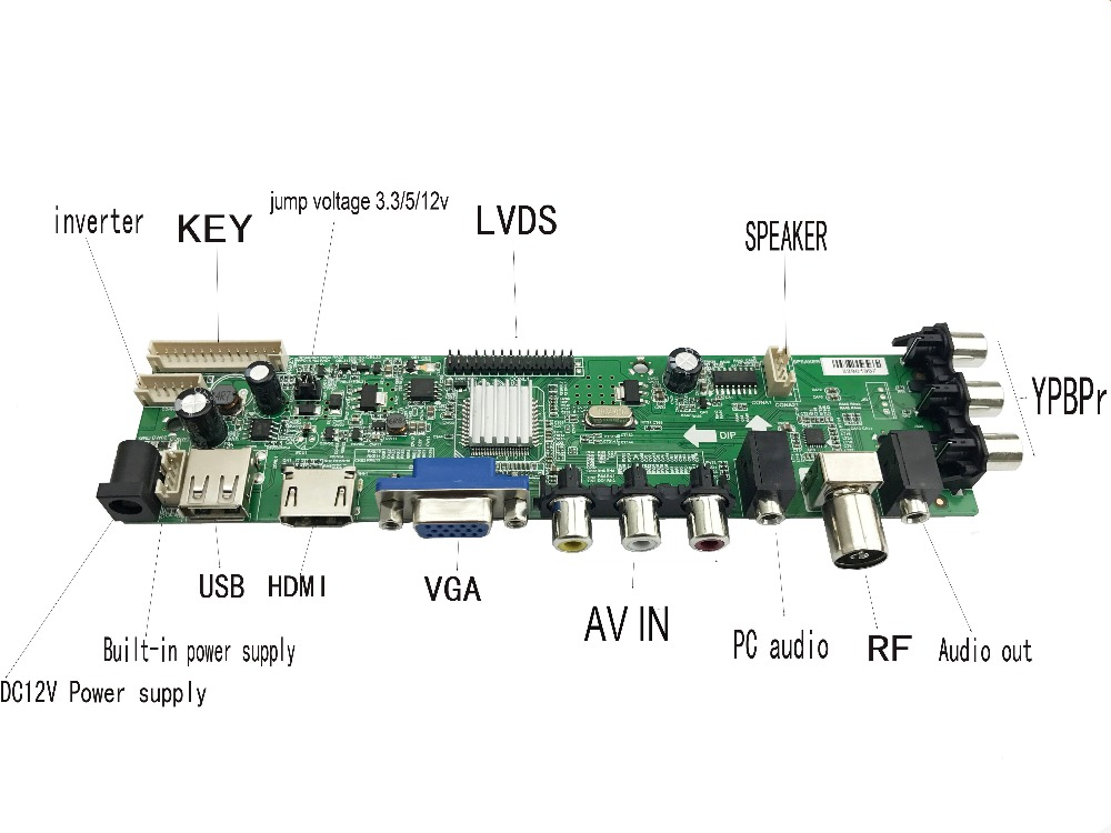 Image 5 - 15 32 inch Universal digital TV board support DVB T2/T/C russian language LCD TV Controller Driver Board 366316-in Integrated Circuits from Electronic Components & Supplies