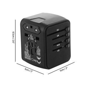 Image 5 - Fornorm旅行アダプタ国際ユニバーサル電源アダプタオールインワンと 6.3A 4 usb世界の壁の充電器英国/eu/au/アジア