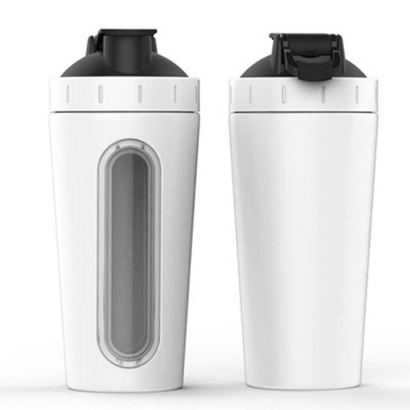 700 Ml Protein Shaker Botol Stainless Steel Botol Air Kebugaran Gym Outdoor Training Minum Susu Bubuk Mixer Botol Air