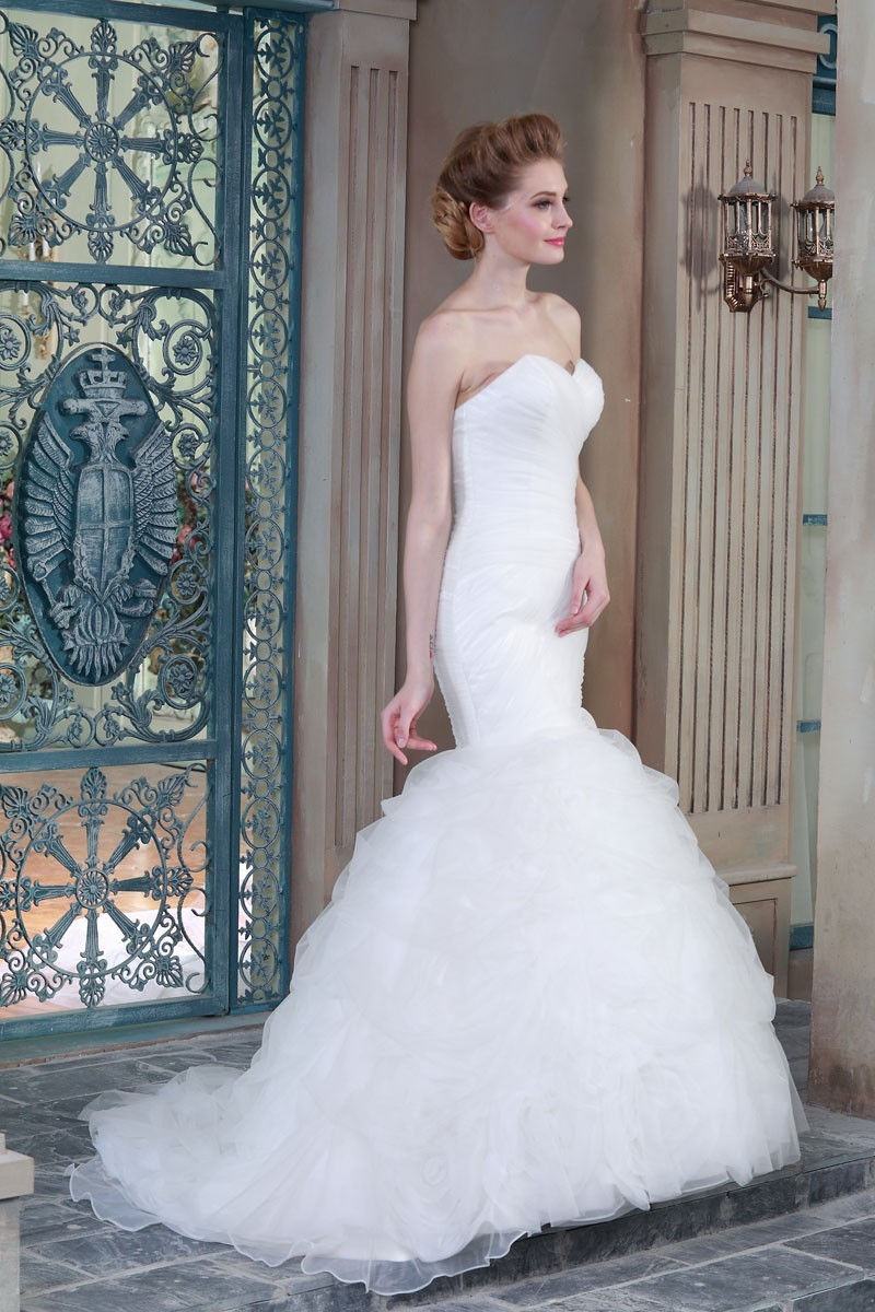 Mermaid Wedding Dresses China Supplier Made In China Latest Dress Designs HSW7 (5)