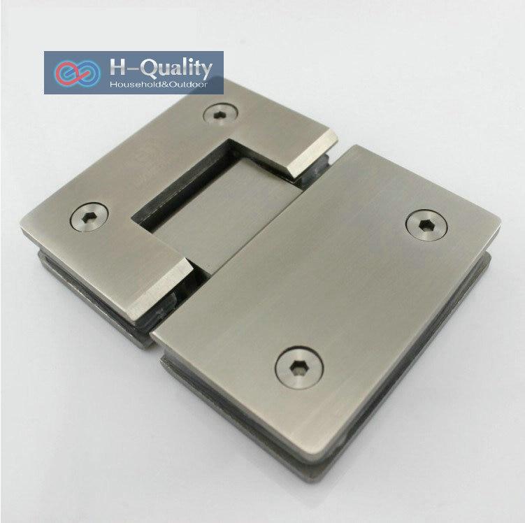 Épaissir 180 degrés précision en acier inoxydable moulé porte en verre pince Clip porte de douche verre Clip support