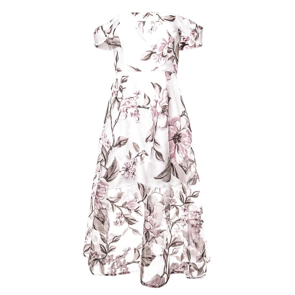 HTB1Raibnf2H8KJjy0Fcq6yDlFXaZ - FREE SHIPPING Women Summer Dress 2018 Floral Printed Off Shoulder JKP406