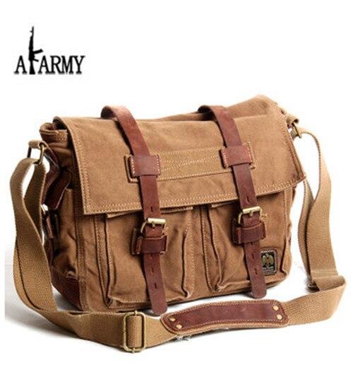 dfb946d8b4e2 Canvas Cow leather Men Messenger bags